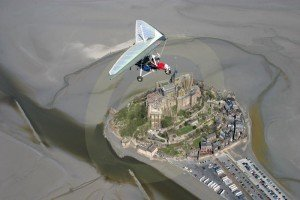 Mt St Michel from the air